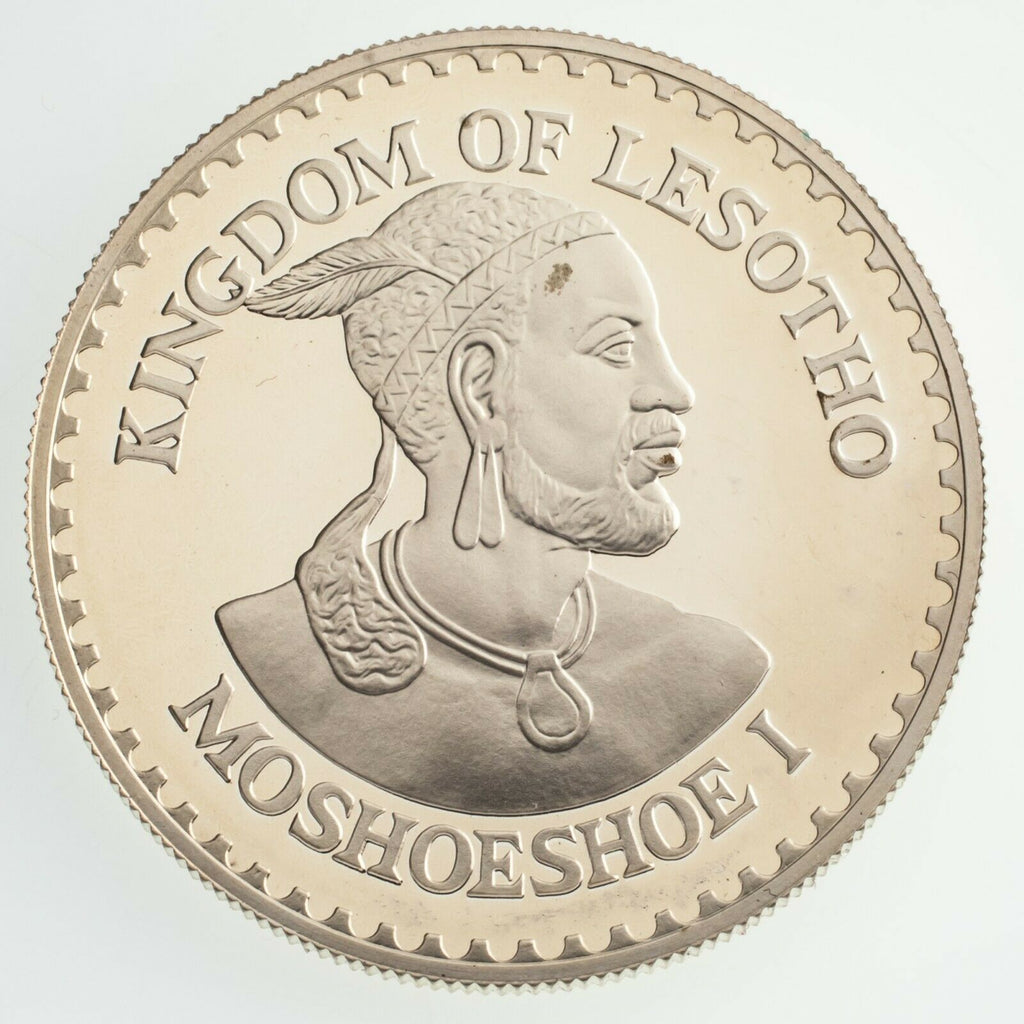 1984 Kingdom of Lesotho Sterling Silver Int'l Games 25 Maloti Proof Round