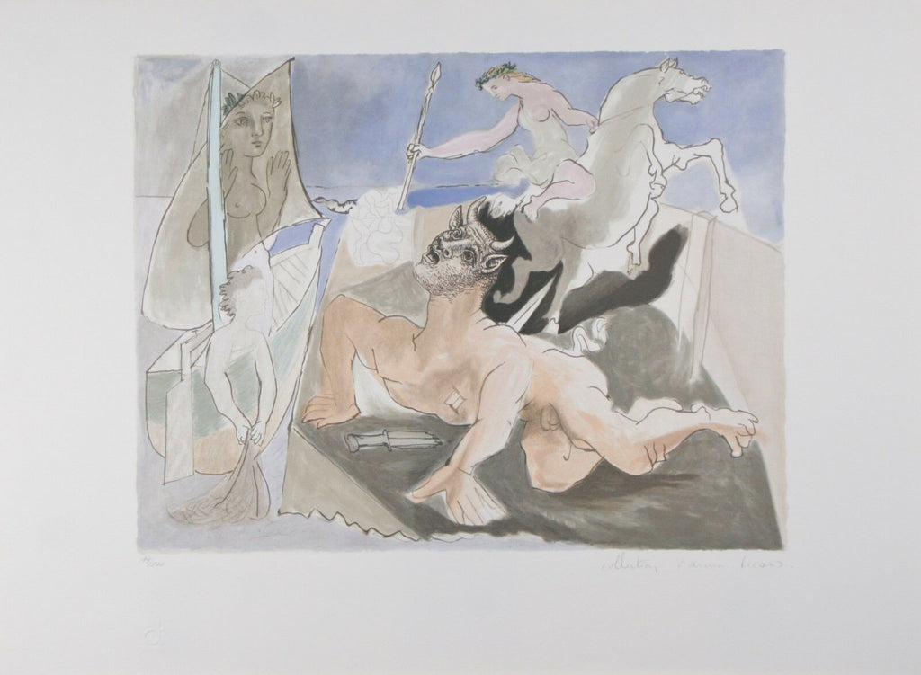 """Composition with Minotaur"" from Marina Picasso Estate Ltd Edition of 500 Lithog"