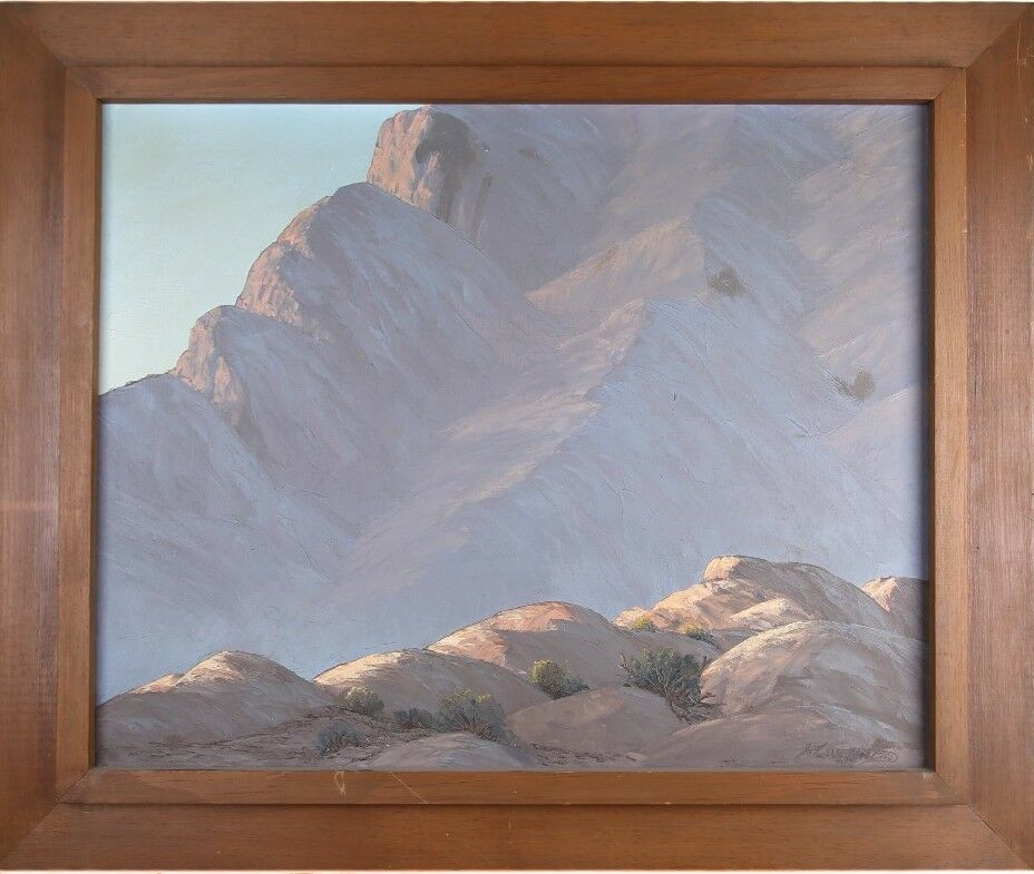 """Canyon Shadows"" by John William Hilton Oil on Canvas 31"" x 37"" Signed & Titled"