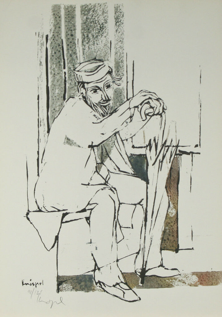 """The Old Man"" by Knispel Gershon Signed Limited Edition of 125 Lithograph Print"