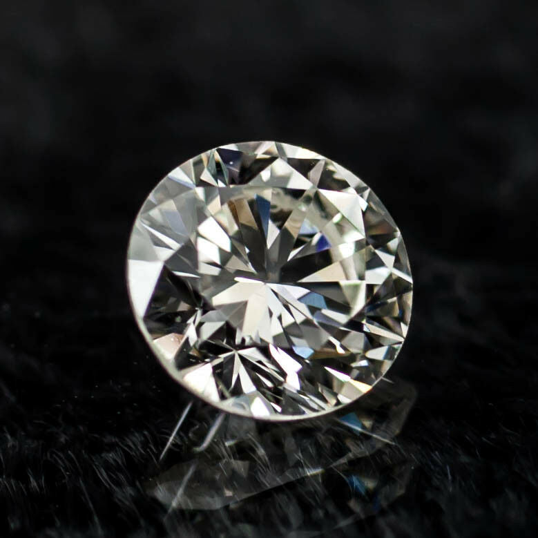 0.58 Carat Loose J/ VS2 Round Brilliant Cut Diamond GIA Certified