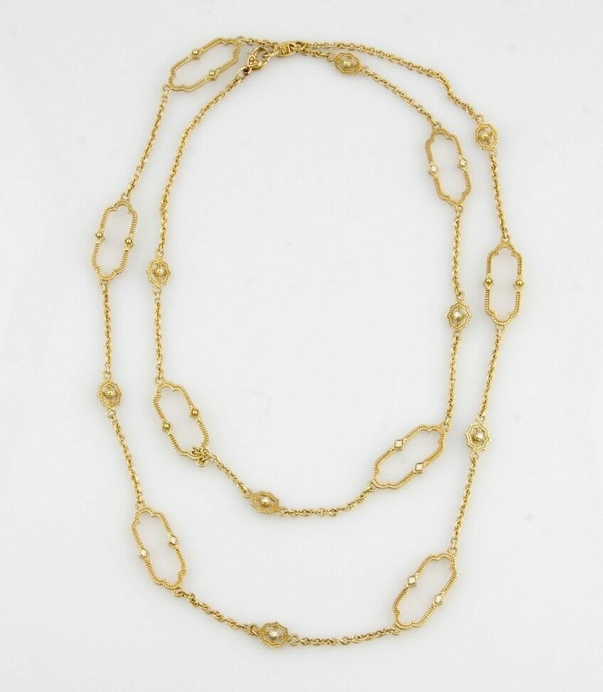 JUDITH RIPKA 18KT YELLOW GOLD DIAMOND CHELSEA LINKS NECKLACE
