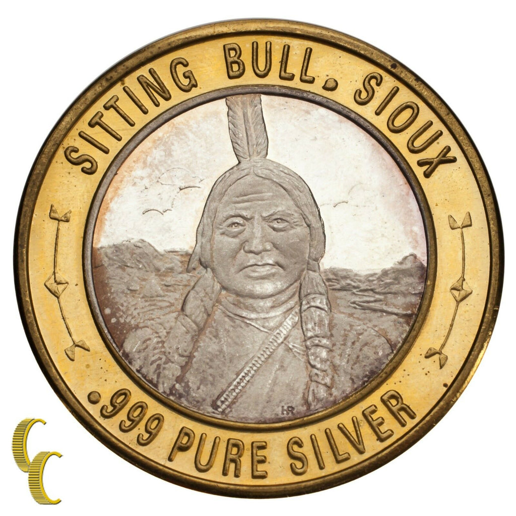 Sitting Bull Sioux $10 Gaming Token Limited Native American Series .999 Silver