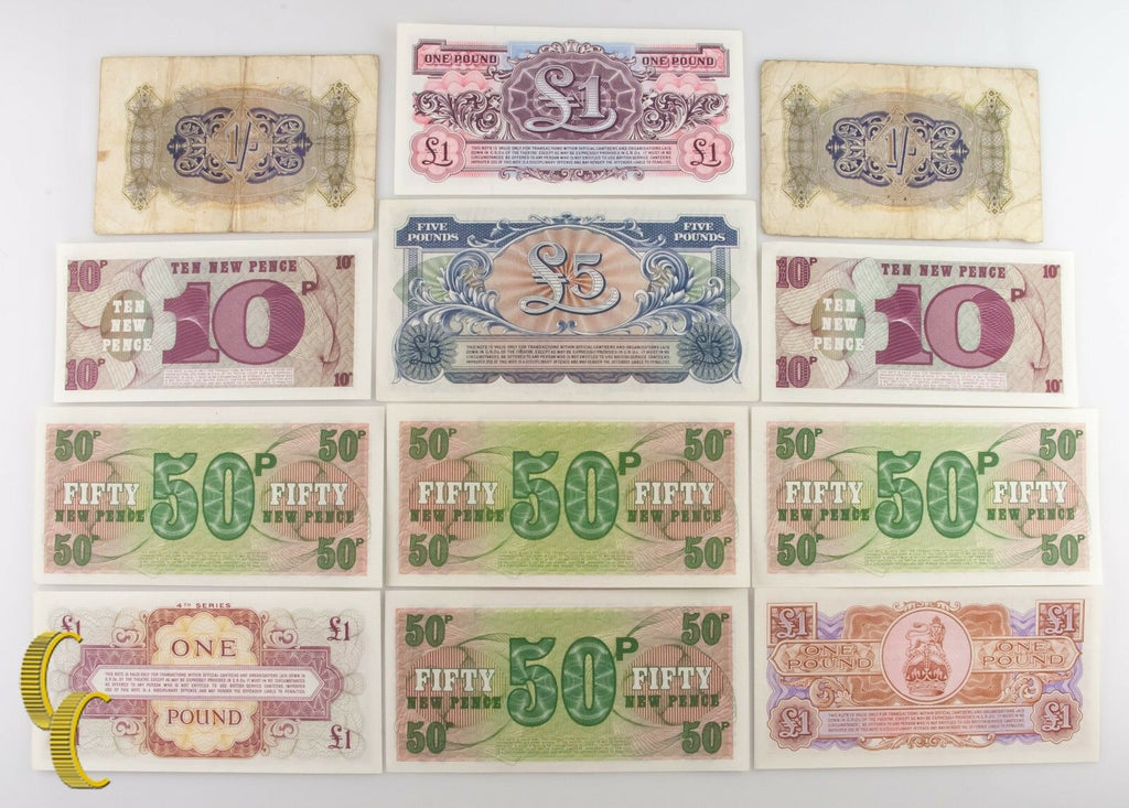 1943-1958 Great Britain British Military Authority 12 pc Note Shilling F-UNC