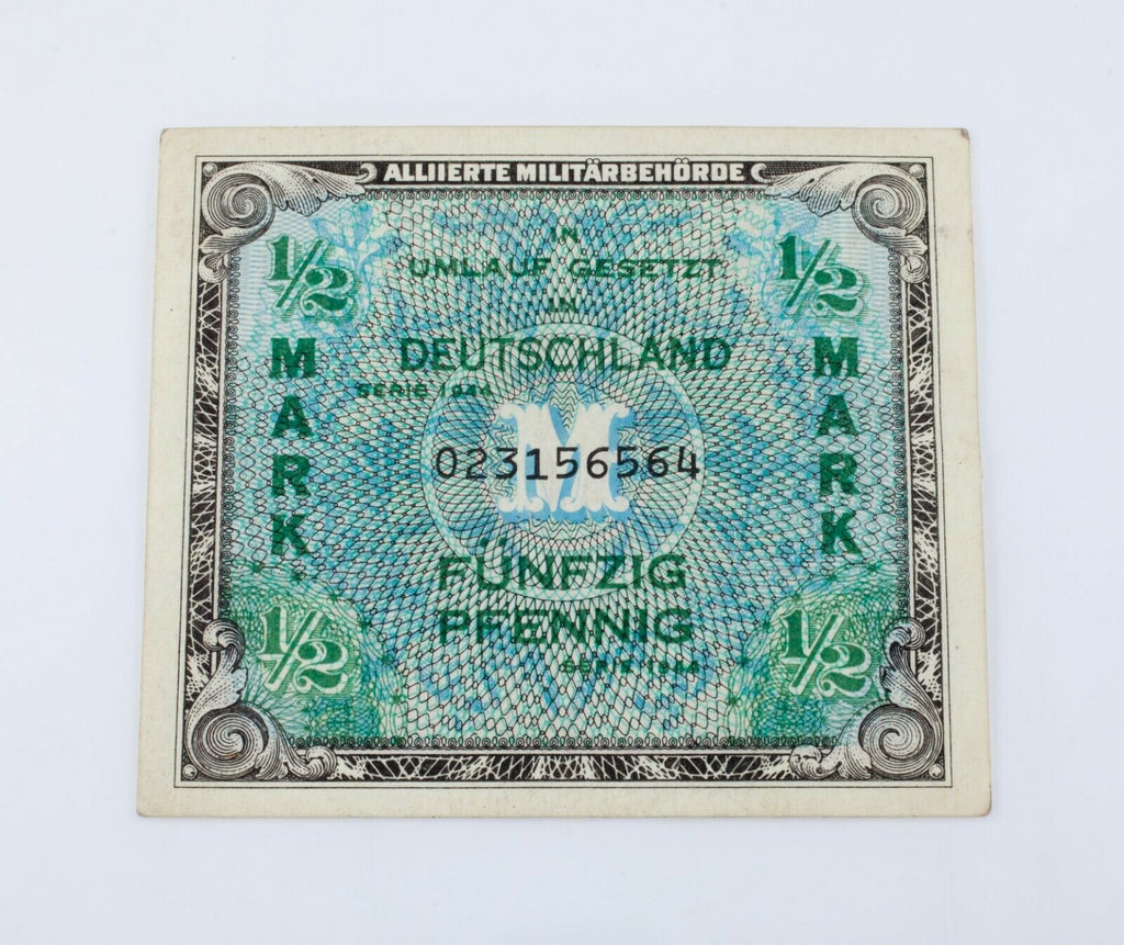 1944 Germany Allied Occupation 1/2 Mark Currency (XF)