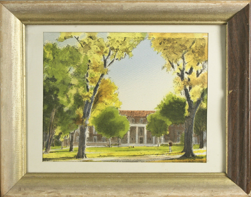 "University of CO Library By Davis Gray Framed Lithograph 11""x14"""
