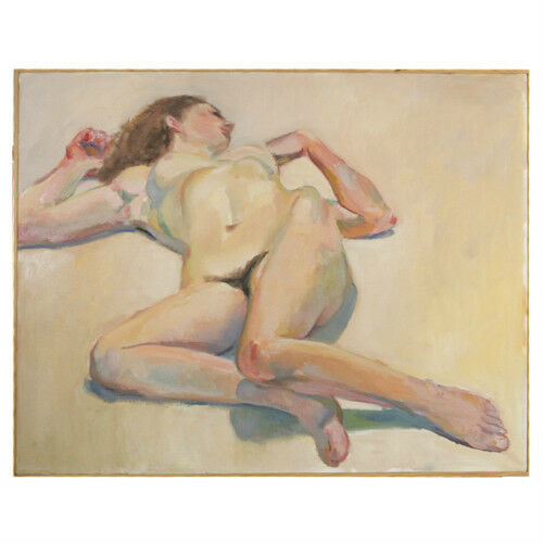 """Reclining Nude II"" By David Shaw Oil Painting 24""x36"""