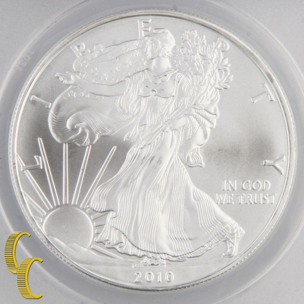 2010 American $1 Silver Eagle Graded MS-70 by ANACS