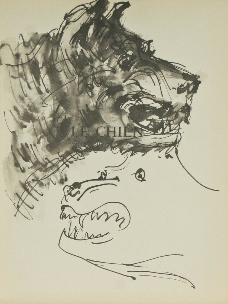 """Le Chien"" By Pablo Picasso Lithograph from Buffon Book 14 3/4""x11"""