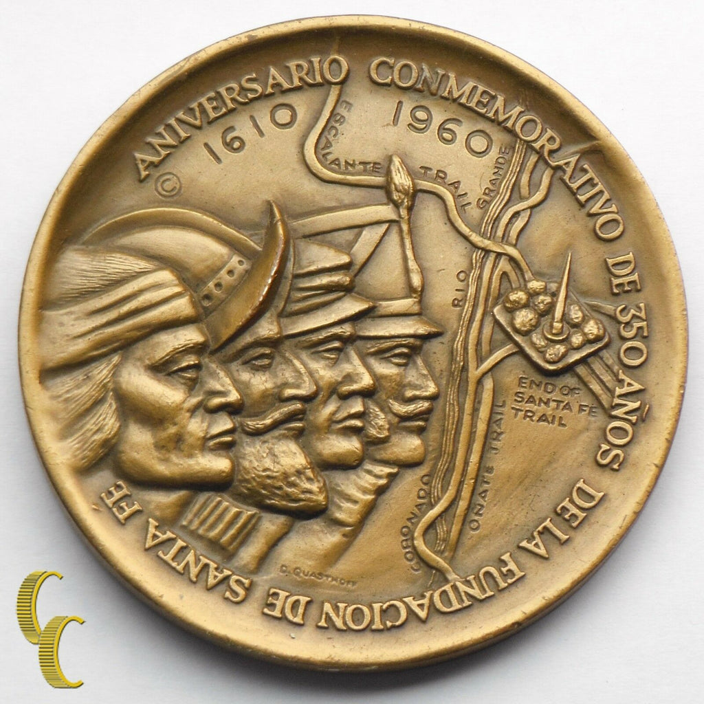 1610-1960 Founding of Santa Fe 350th Anniversary Commemorative Medal