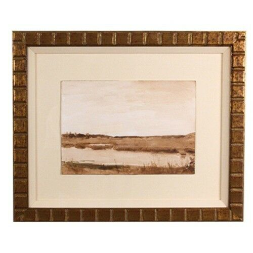 "Larry Horowitz ""Sepia March"" Watercolor on Paper Frame: 14.25"" x 17.5"""