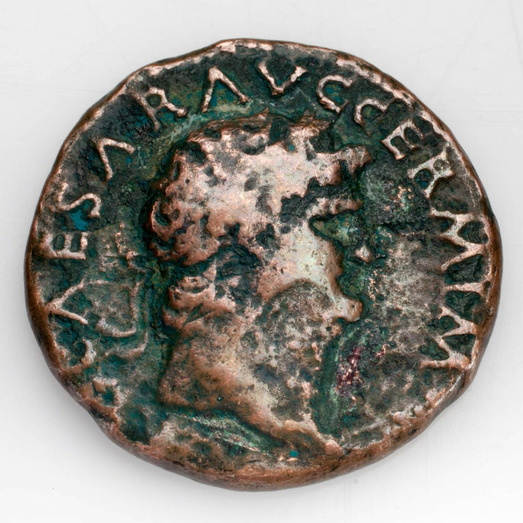 Rome Nero (54 - 68 AD) Copper As Reverse Victory Flying Fine Condition