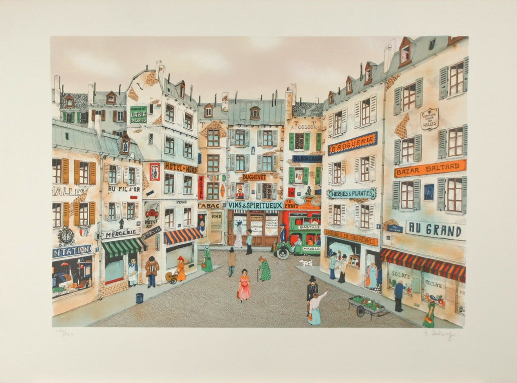 """Hotel Du Nord"" by Delvry Signed Ltd Edition #16/150 Lithograph 22""x30"""