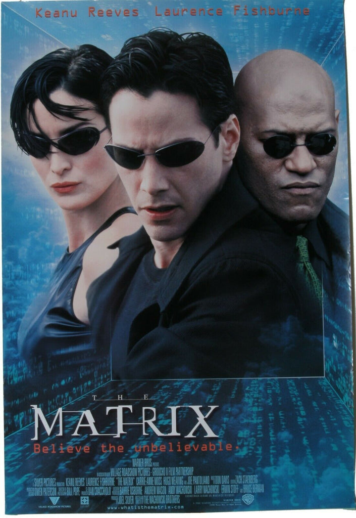 "International One-Sheet for ""The Matrix"" Rolled Storage Rare!"