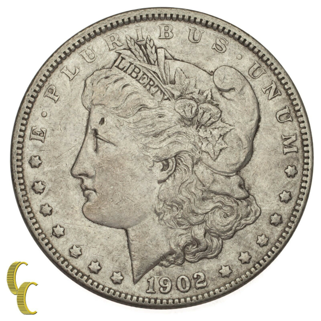 1902 Silver Morgan Dollar $1 (Extra Fine, XF Condition)
