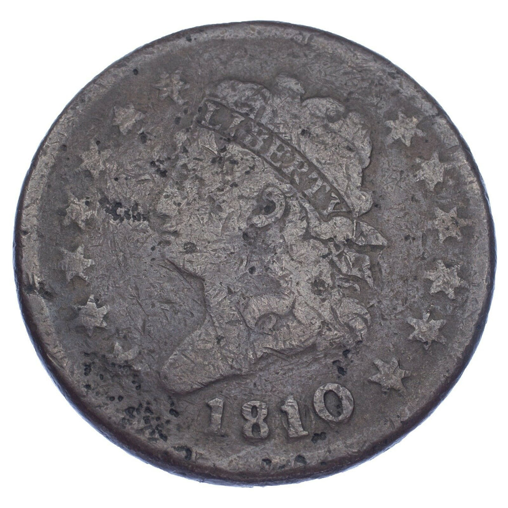 1810/9 1C Classic Head Cent (About Good, AG Condition)