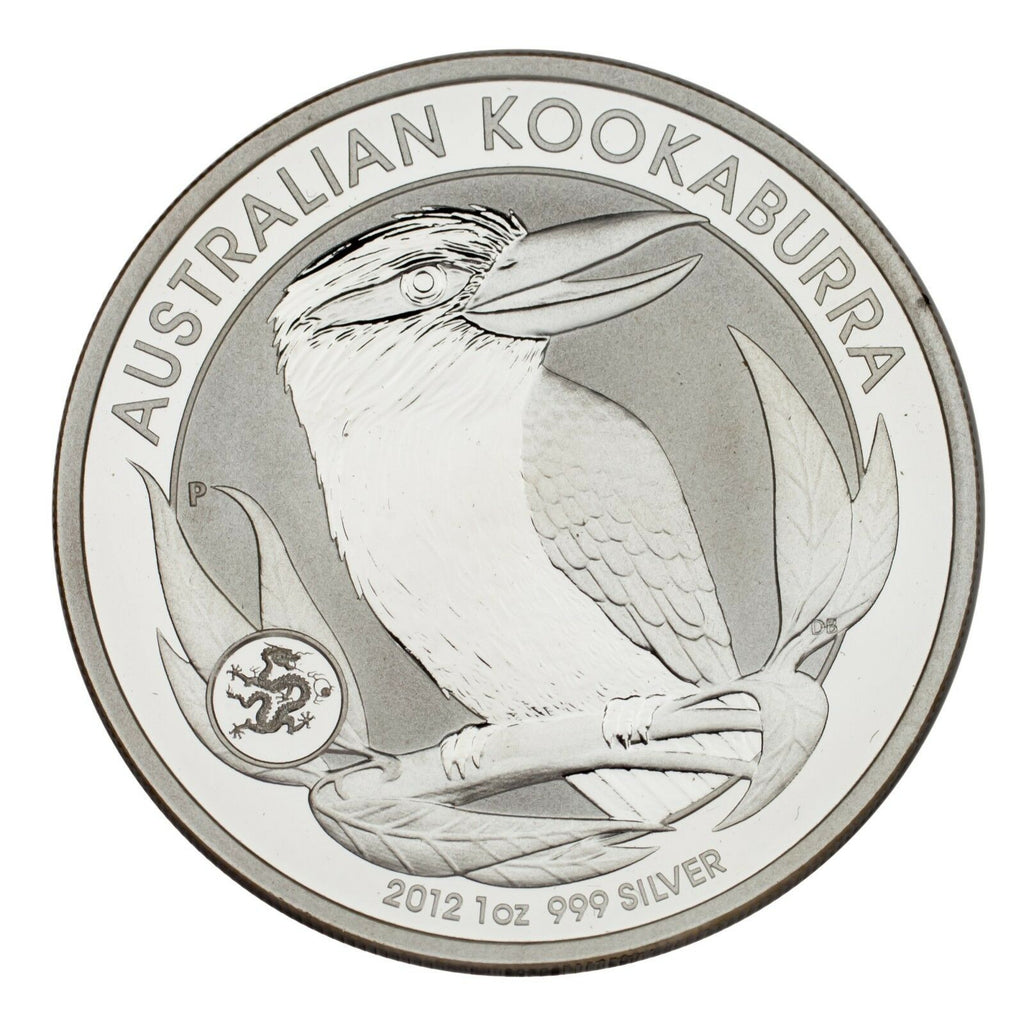 2012 Australia $1 Silver 1oz Kookaburra w/ Dragon Privy (BU Condition) & Capsule