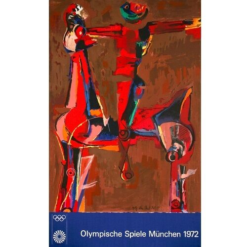 """Olympic 20"" Color Lithograph by Marino Marini 40""x25"""