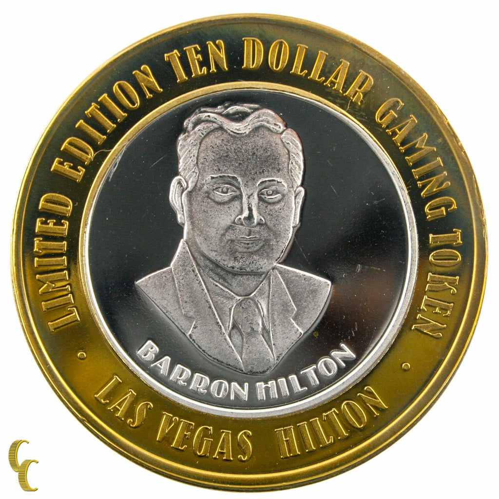 Barron HIlton $10 Las Vegas HIlton Casino Gaming Token .999 Silver Ltd Edition