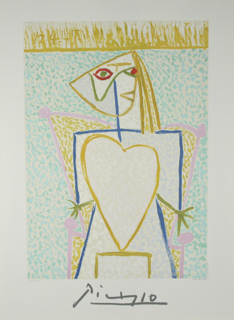 """Marina Heart"" by Picasso Limited Edition of 1000 Lithograph 29 1/2""x21"""