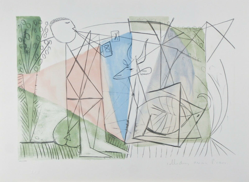 """Joueur de Flute et Gazelle"" from Marina Picasso Estate Ltd Edition of 500 Litho"