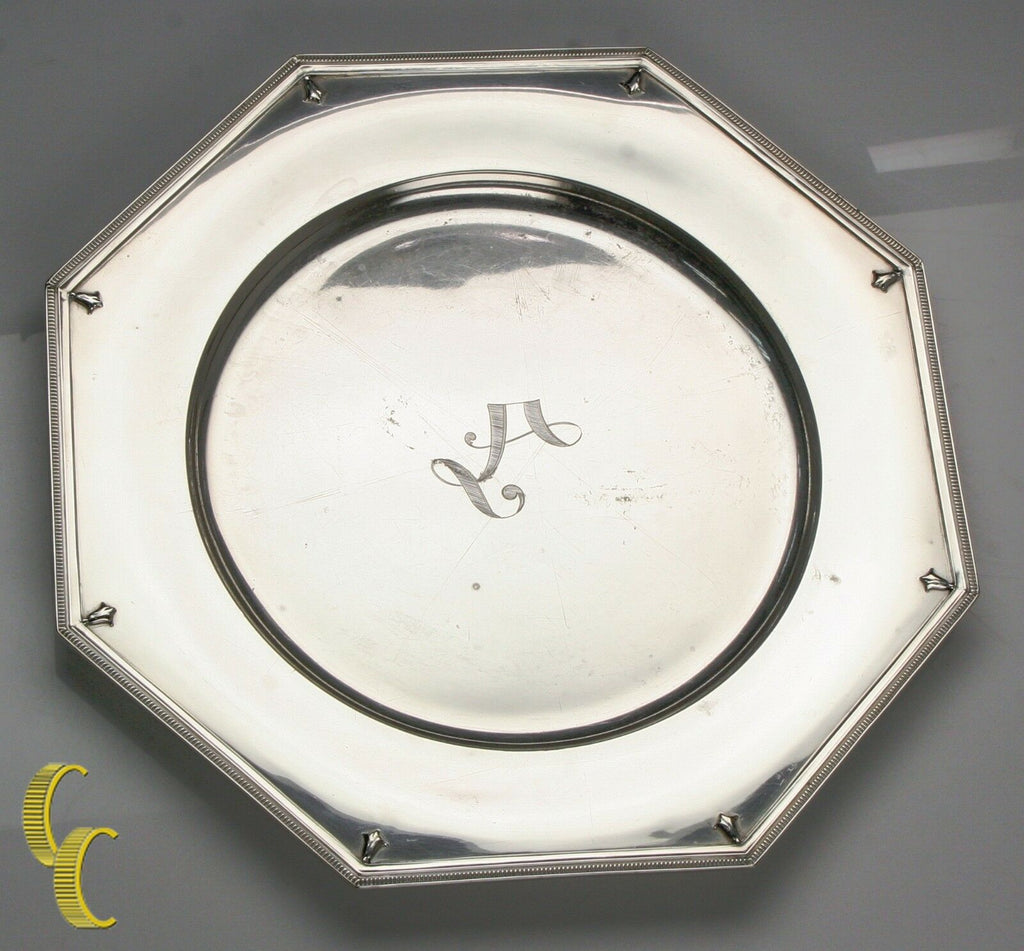 "Alvin Richmond Sterling Silver 10"" Plate Charger Some Wear, Nice Replacement!"