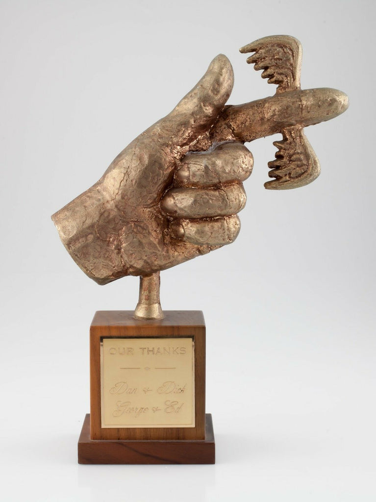 "Fickle Finger of Fate Bronze Employee Award from ""Rowan & Martin's Laugh-In"""