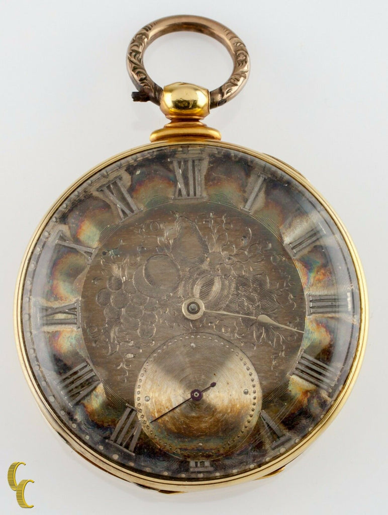 Thomas Cooper London Key Operated 18k Yellow Gold Pocket Watch 13 Jewels