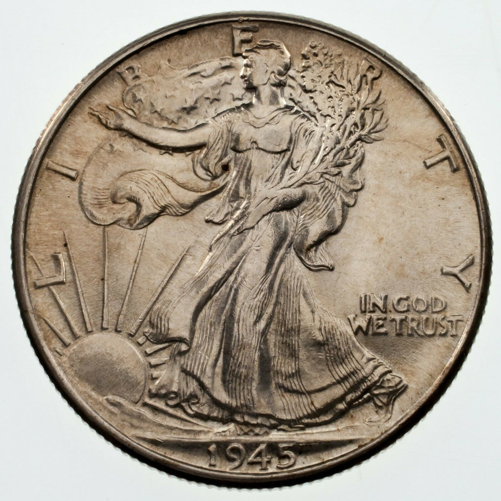 1945 50C Walking Liberty Half Dollar, Choice BU Condition, Nice Eye Appeal