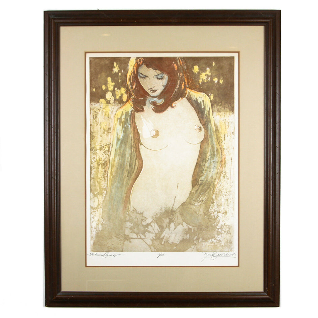 """Autumn Grace"" by Mark Groseclose Signed Ltd Edition #8/250 Color Etching w/ CoA"
