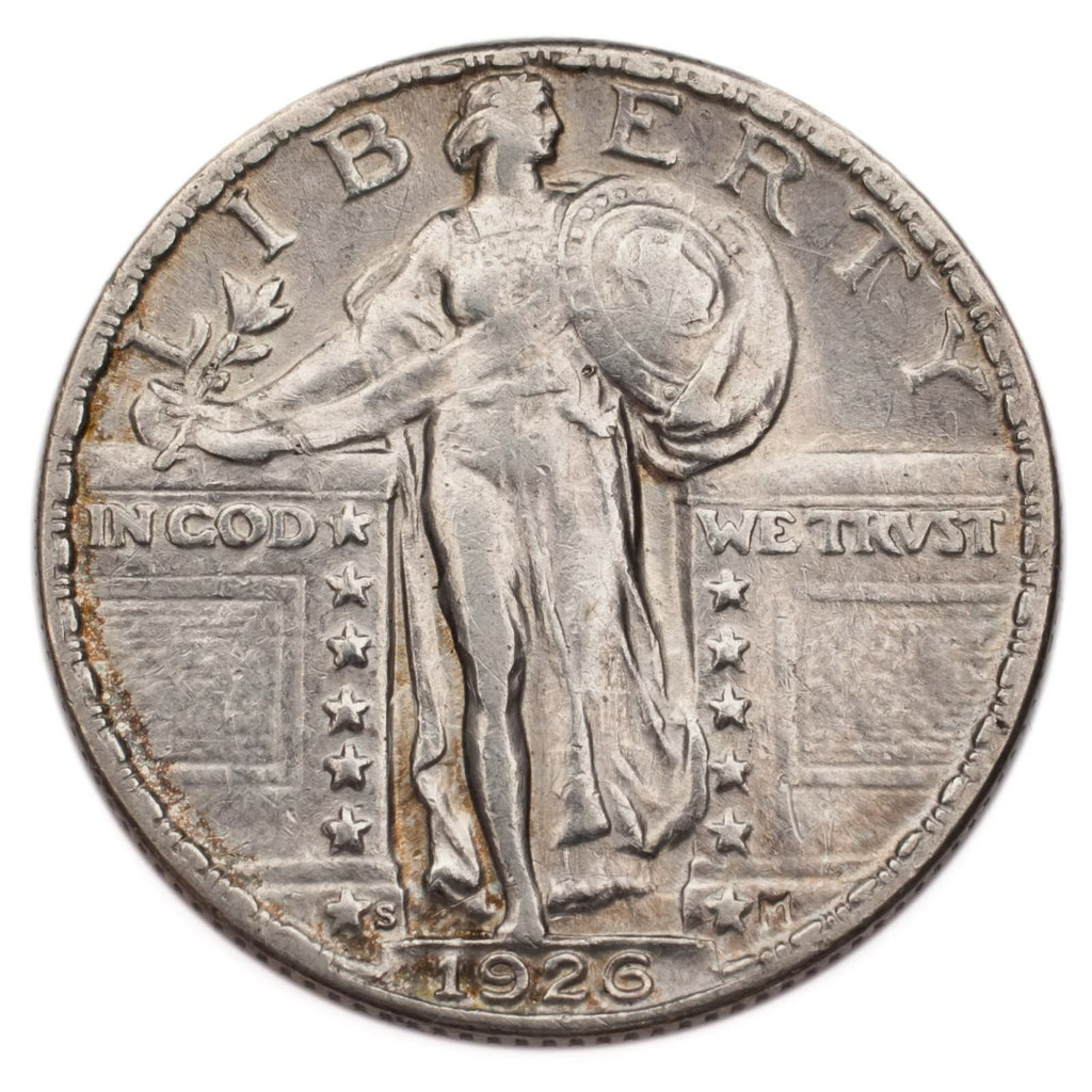 1926-S Silver Standing Liberty Quarter 25C (About Uncirculated, AU Condition)
