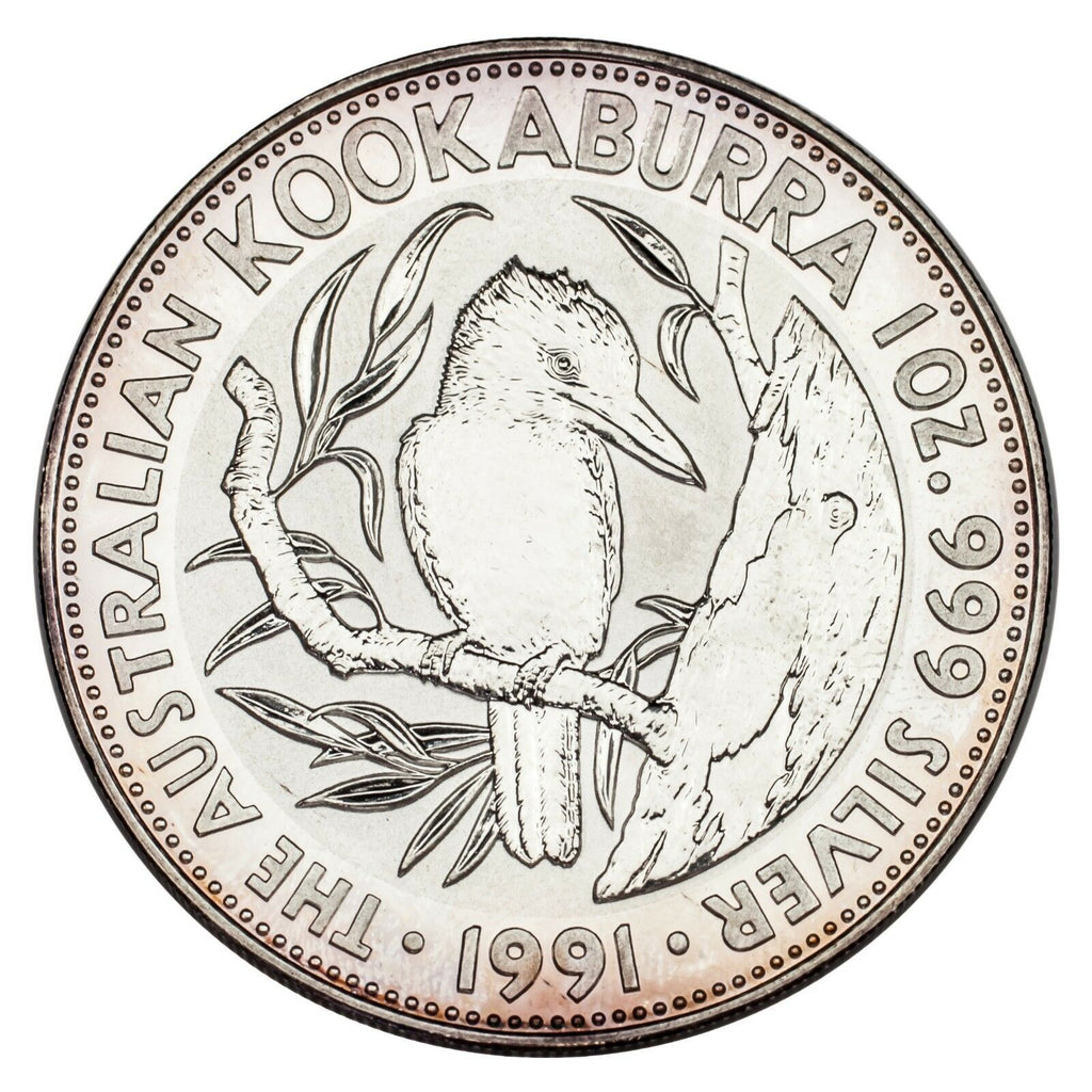 1991 Australia $5 Silver 1oz Kookaburra (BU Condition) KM# 138
