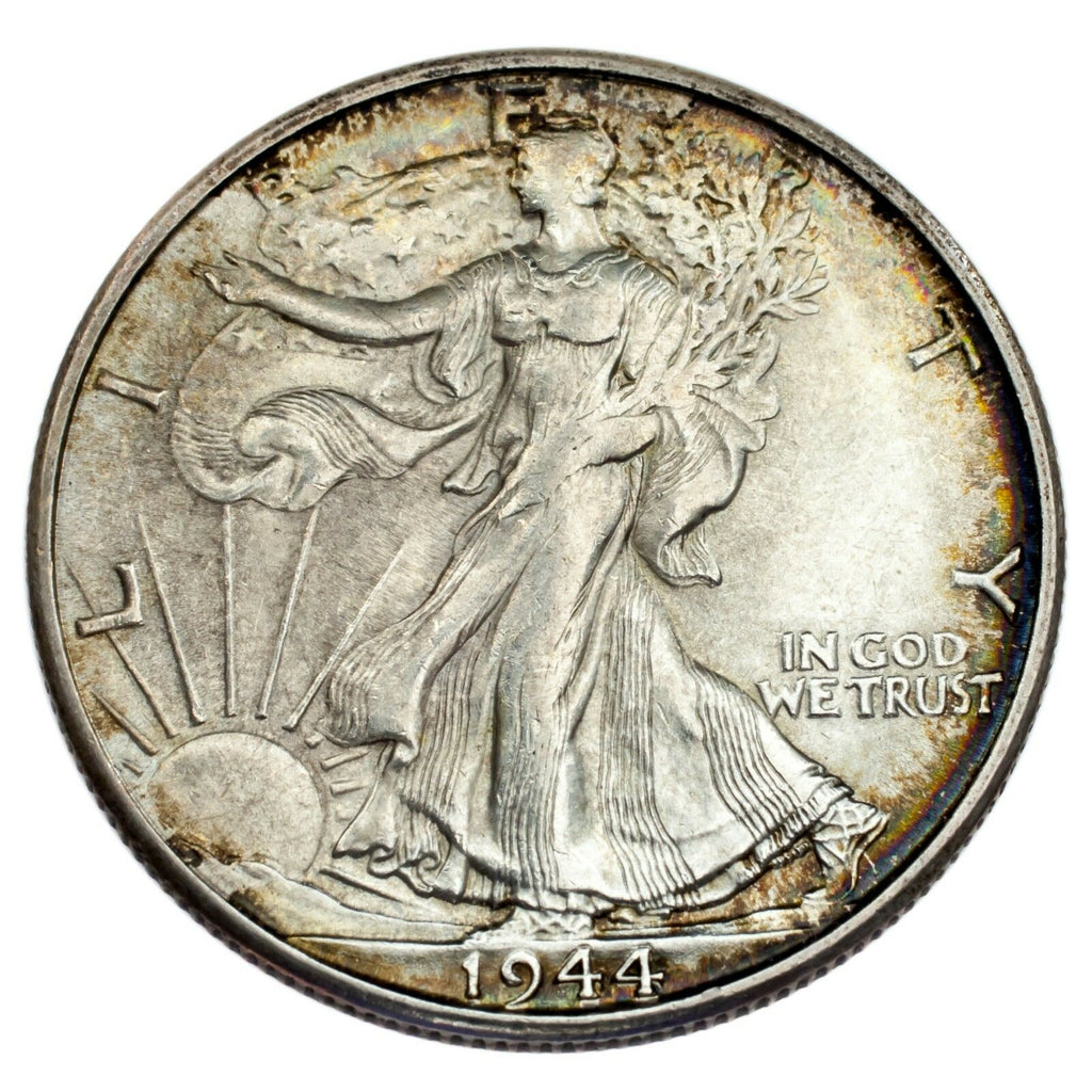 1944-S 50C Walking Liberty Half Dollar Choice BU Condition