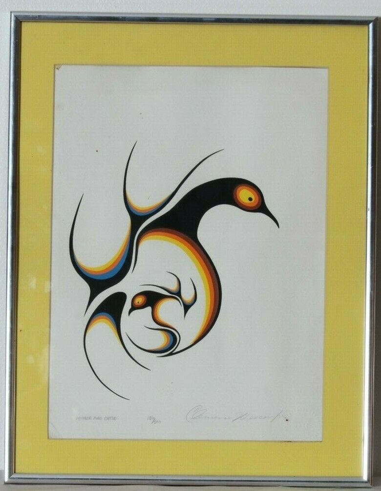 """Mother and Child"" Limited Edition 136/500 Framed Silkscreen Clemence Wescoupe"
