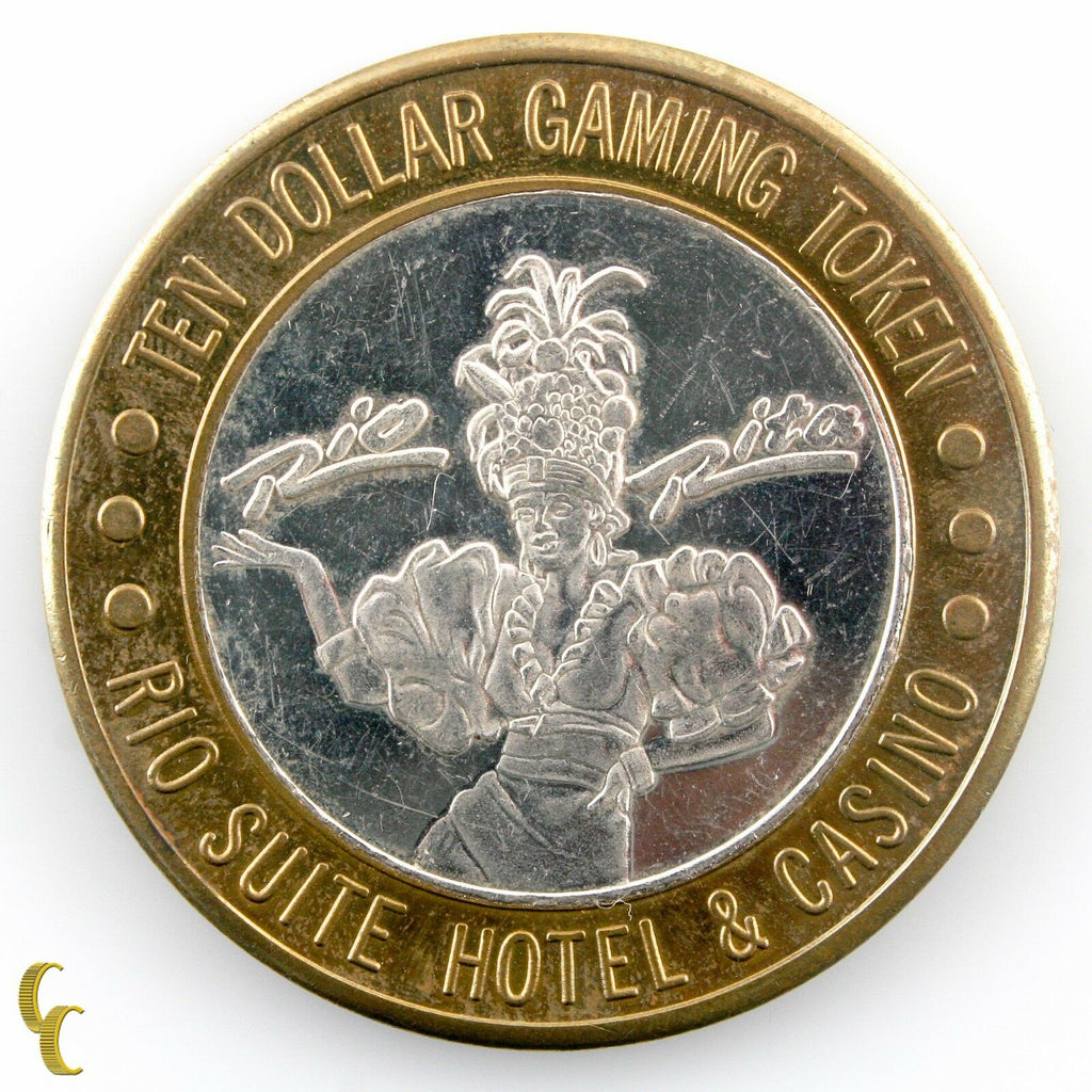 Rio Rita $10 Rio Suite Hotel & Casino Gaming Token .999 Silver Ltd Edition