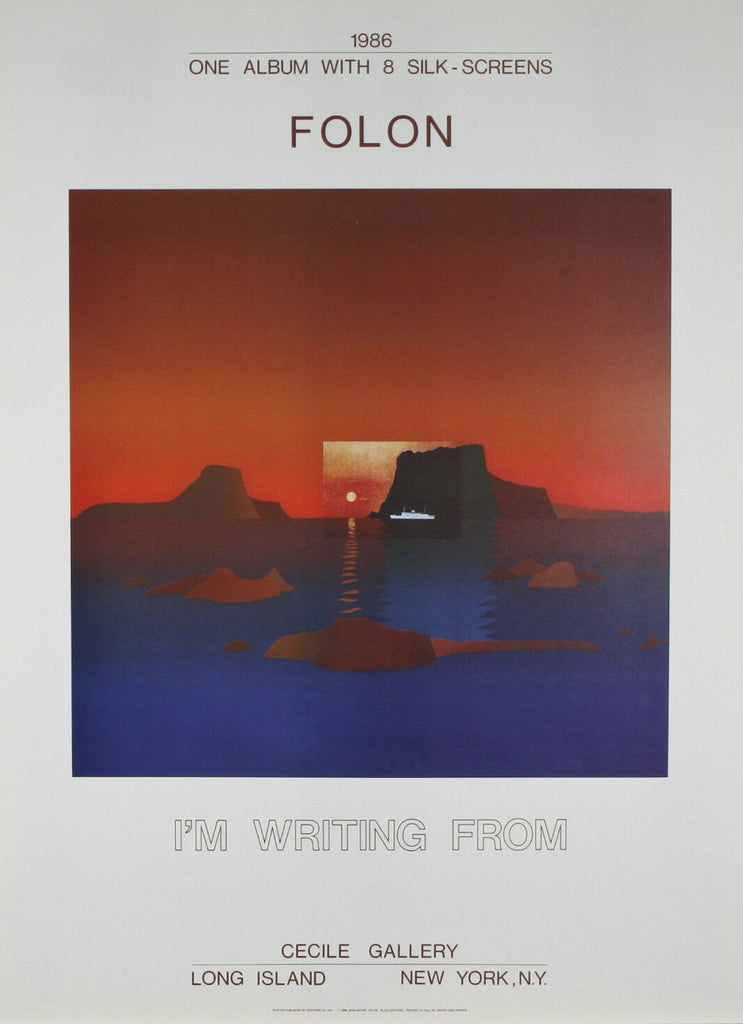 "Lot of 5 ""I Am Writing From Cyclades"" by Jean Michael Folon Posters 30""x22"""