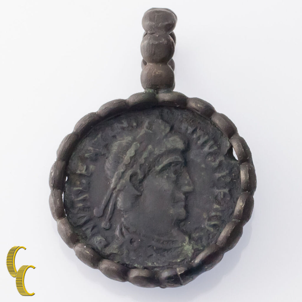 Ancient Coin In Silver Bezel Pendant