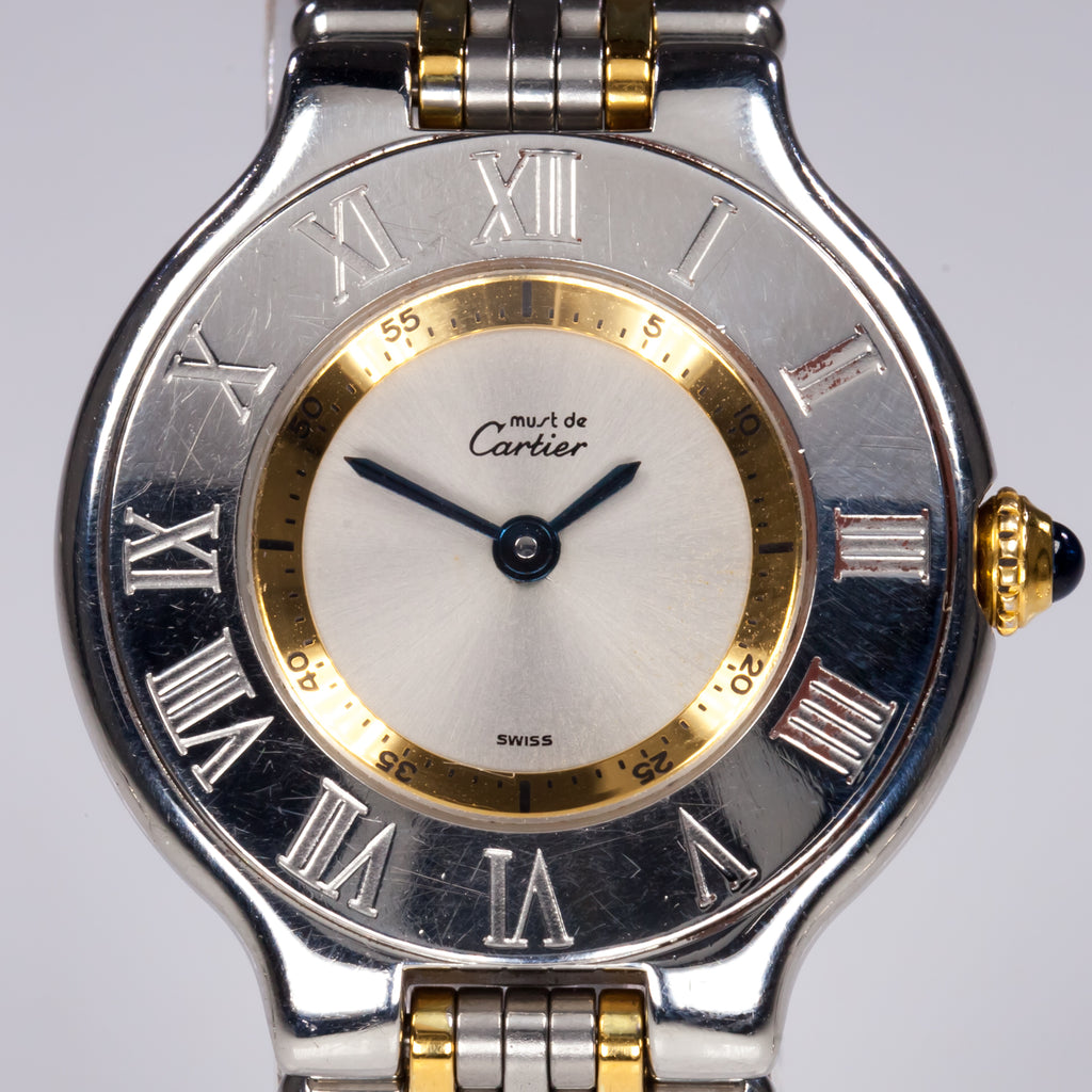 Must de Cartier 21 Women's Two-Tone Quartz Watch #1340