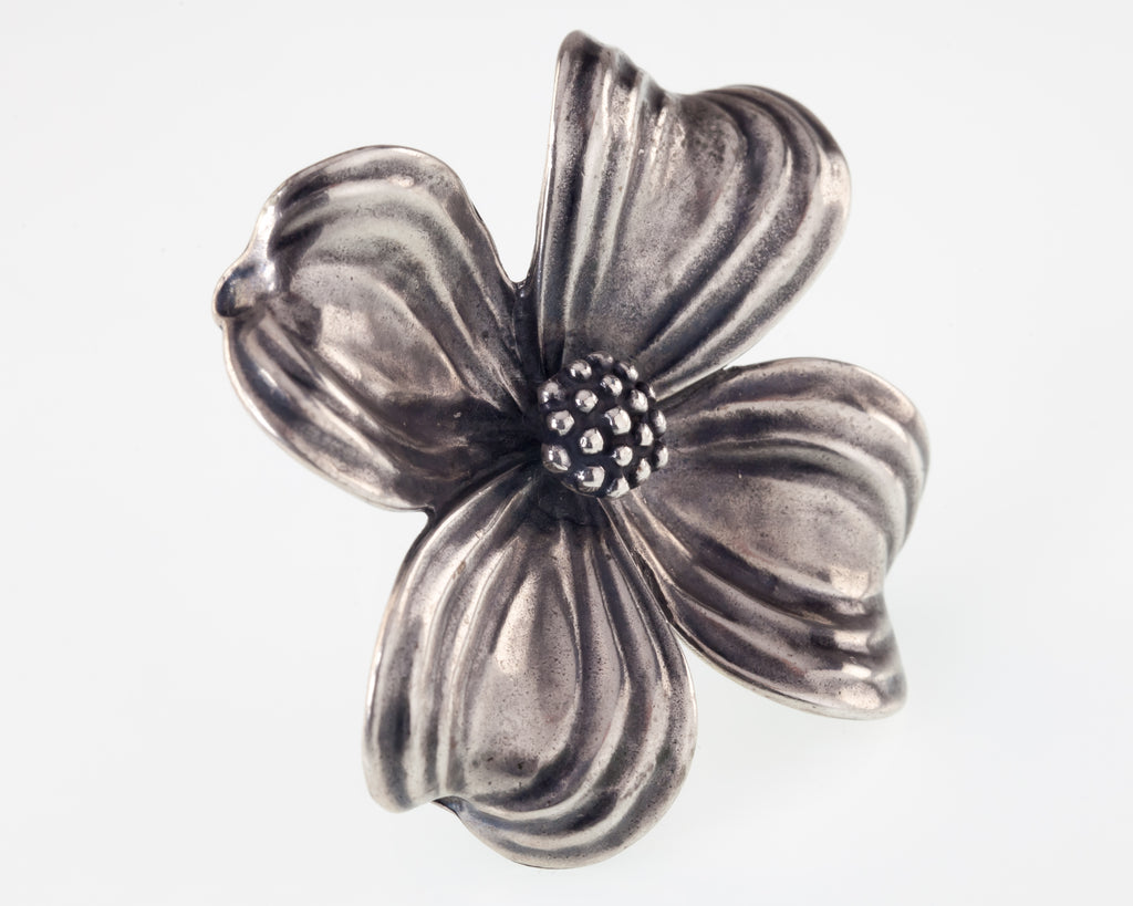 James Avery Large Dogwood Flower Brooch Pendant Sterling Silver 22.5grams