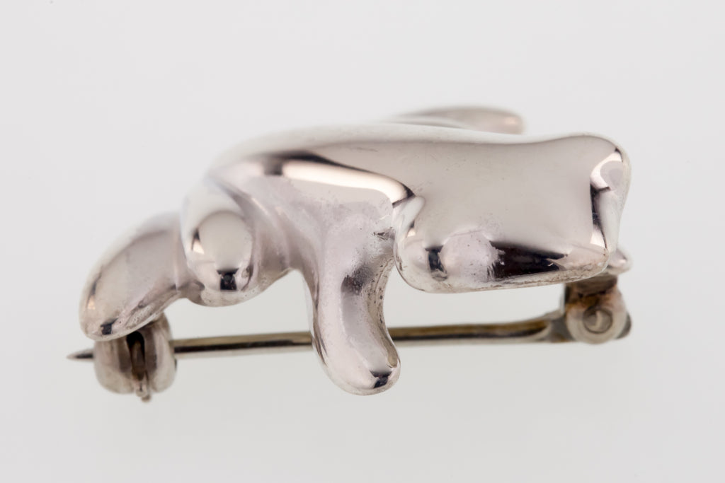James Avery Small Frog Brooch Sterling Silver 4.8grams