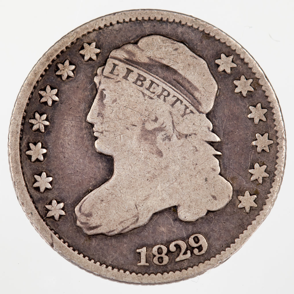1829 10C Bust Dime VG Condition, Natural Color, Full Strong Rims