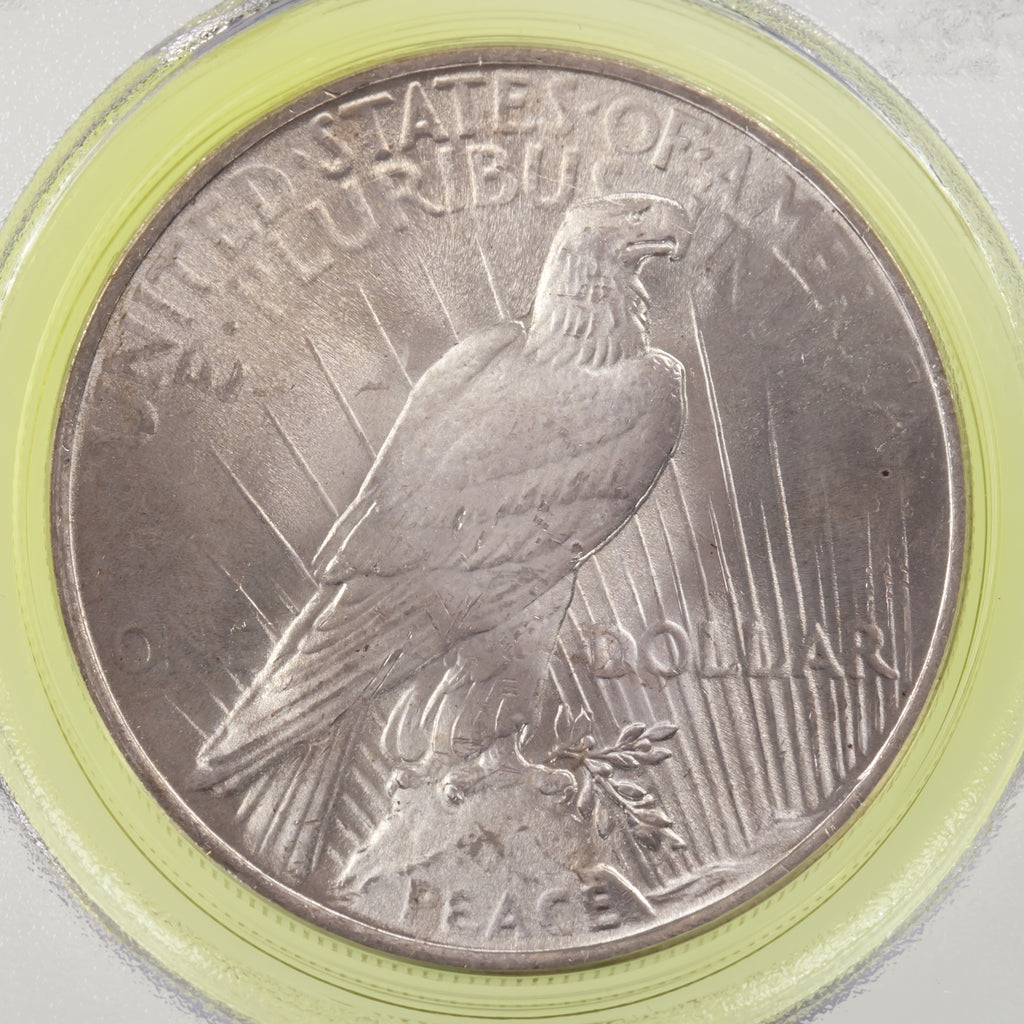 1923 $1 Silver Peace Dollar Graded by PCGS as MS-65! Gorgeous Old Holder!