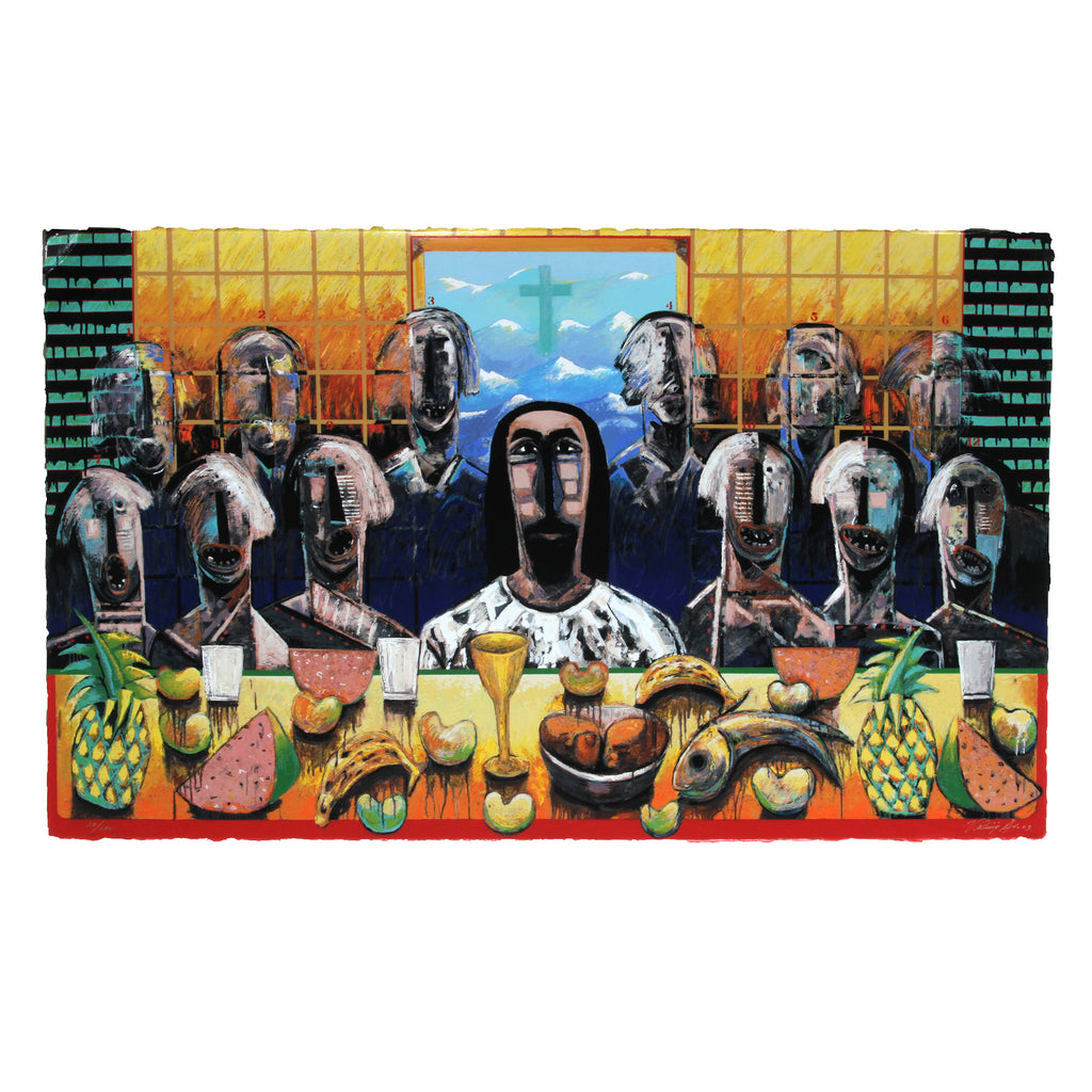 "Vladimir Cora ""The Last Supper"" Serigraph"