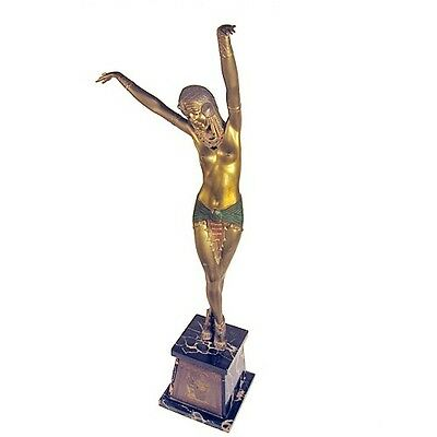 SIGNED EGYPTIAN DANCER BRONZE SCULPTURE BY CHIPARUS