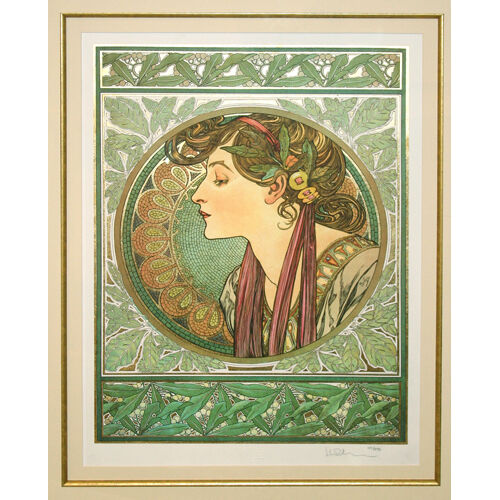 """LAUREL"" by ALPHONSE MUCHA, Print Signed and Numbered"