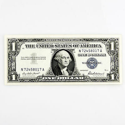 1957 $1 SILVER CERTIFICATE 2 CONSECUTIVE NOTES N72458017A-N72458018A