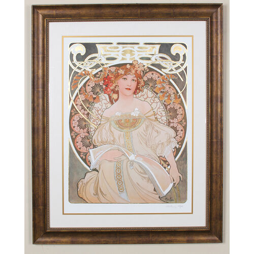 """REVERIE"" by ALPHONSE MUCHA, Print Signed and Numbered"