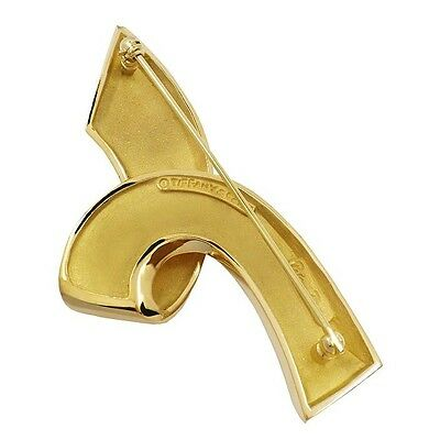 18KT YELLOW GOLD TIFFANY & CO. RIBBON BROOCH BY PALOMA PICASSO
