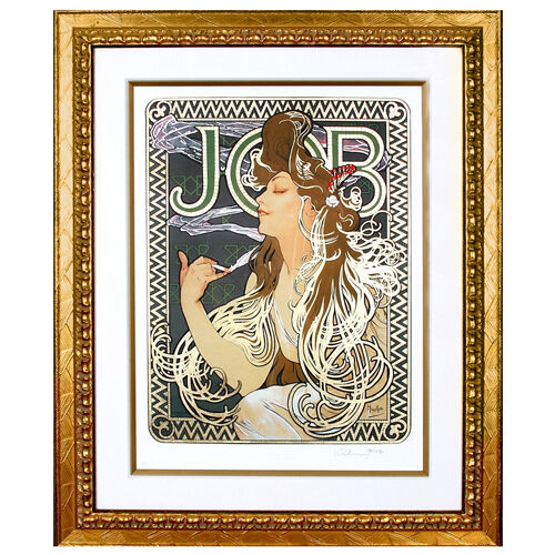 """JOB"" by ALPHONSE MUCHA, Print Signed and Numbered"