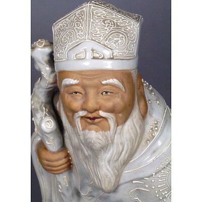Vintage Ceramic Wise Man Figurine, Made in Japan